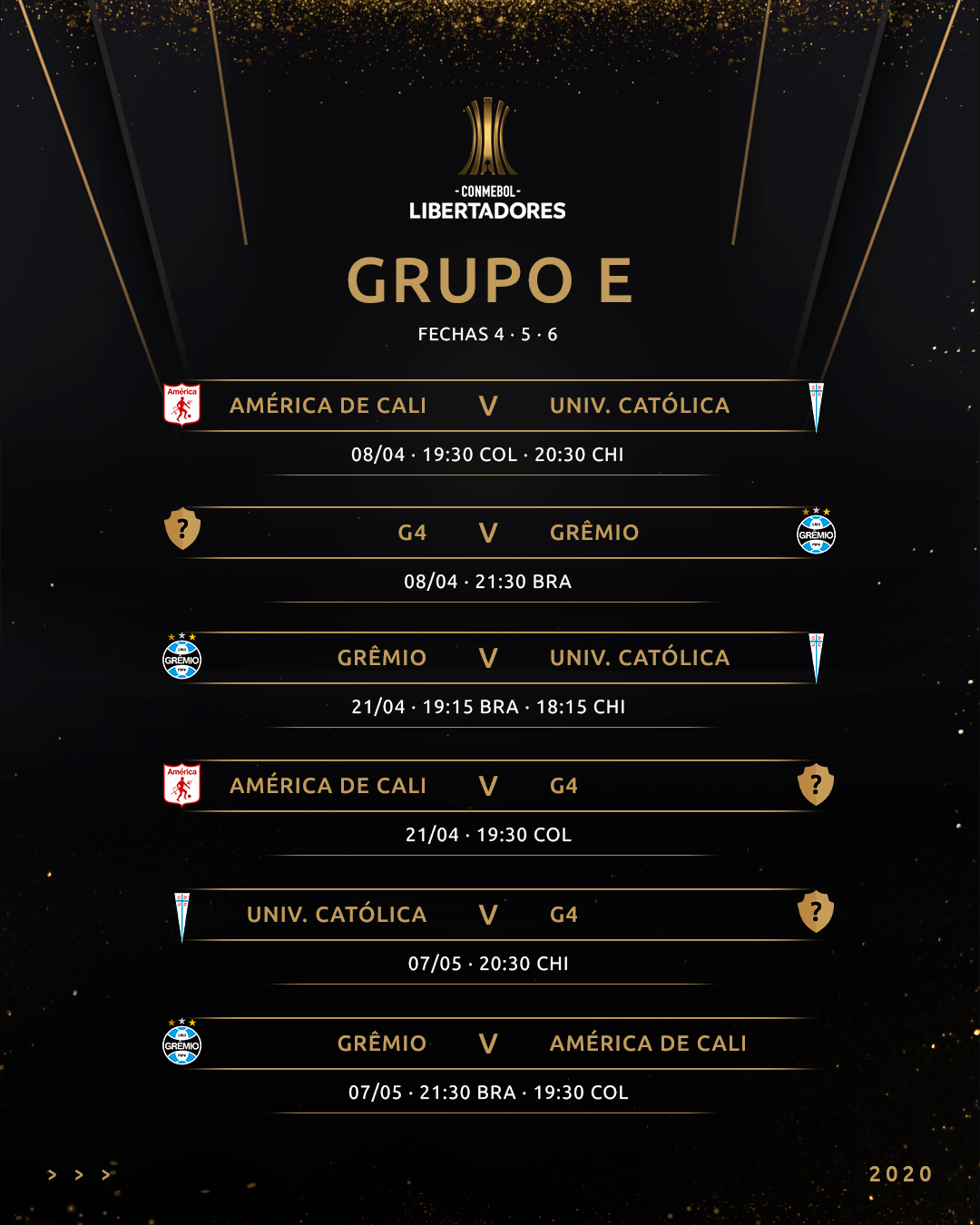 Grupo E Fixture