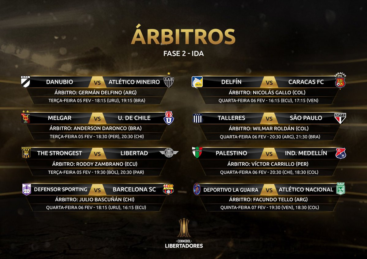 Arbitragem - Libertadores Fase 2