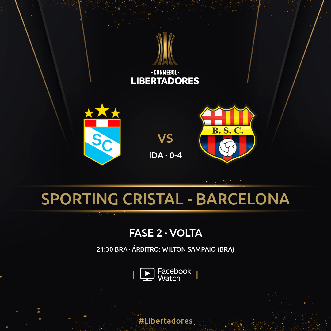 Cristal x Barcelona - Libertadores