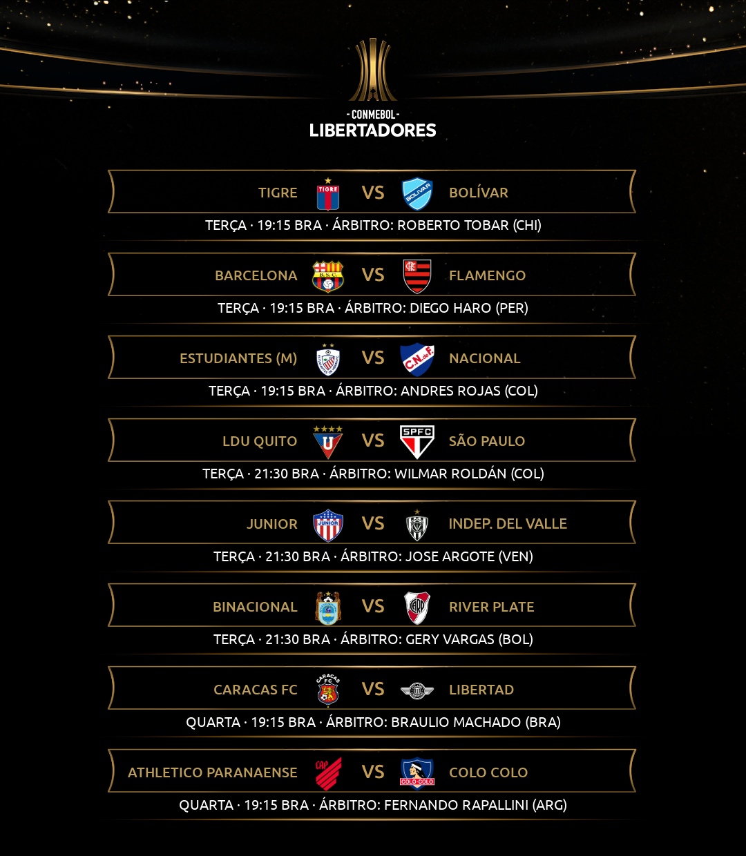 Árbitros 4 rodada Libertadores 1