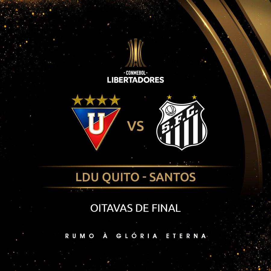 Arte: LDU x Santos - Libertadores