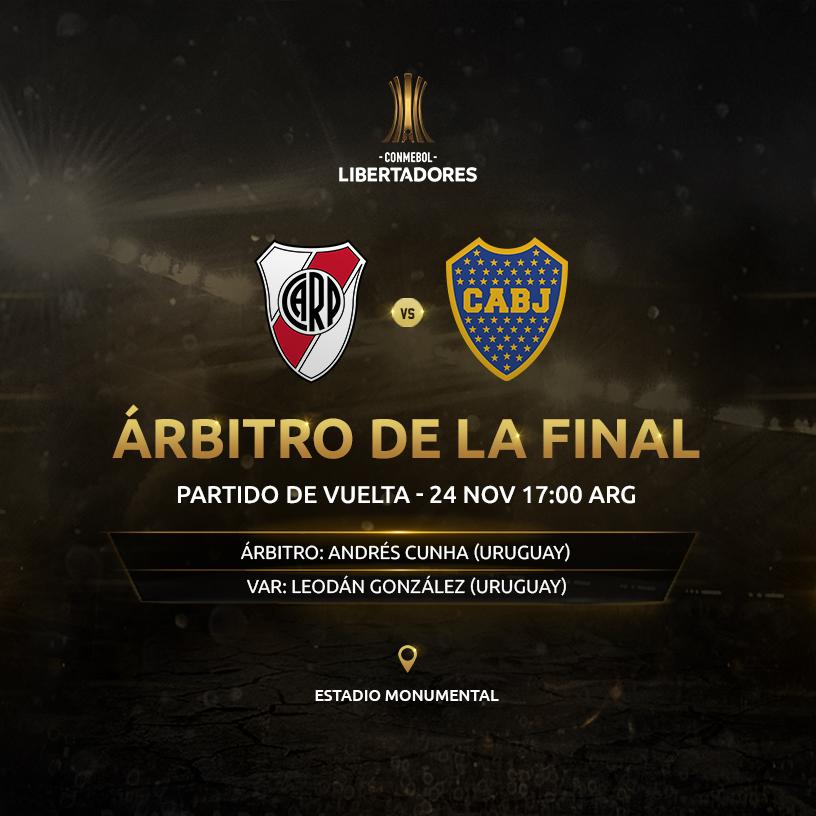 Andres Cunha arbitro final copa conmebol libertadores