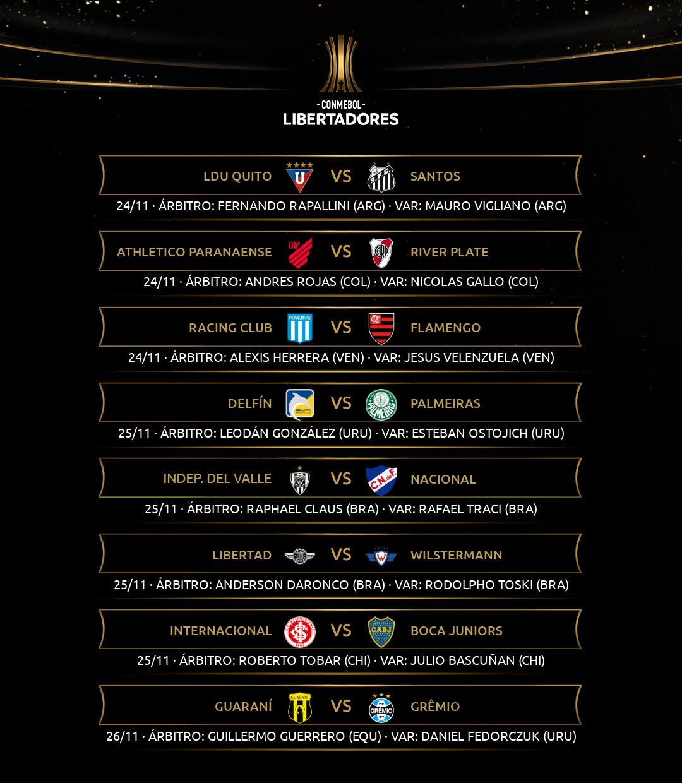Arbitragem Libertadores oitavas ida