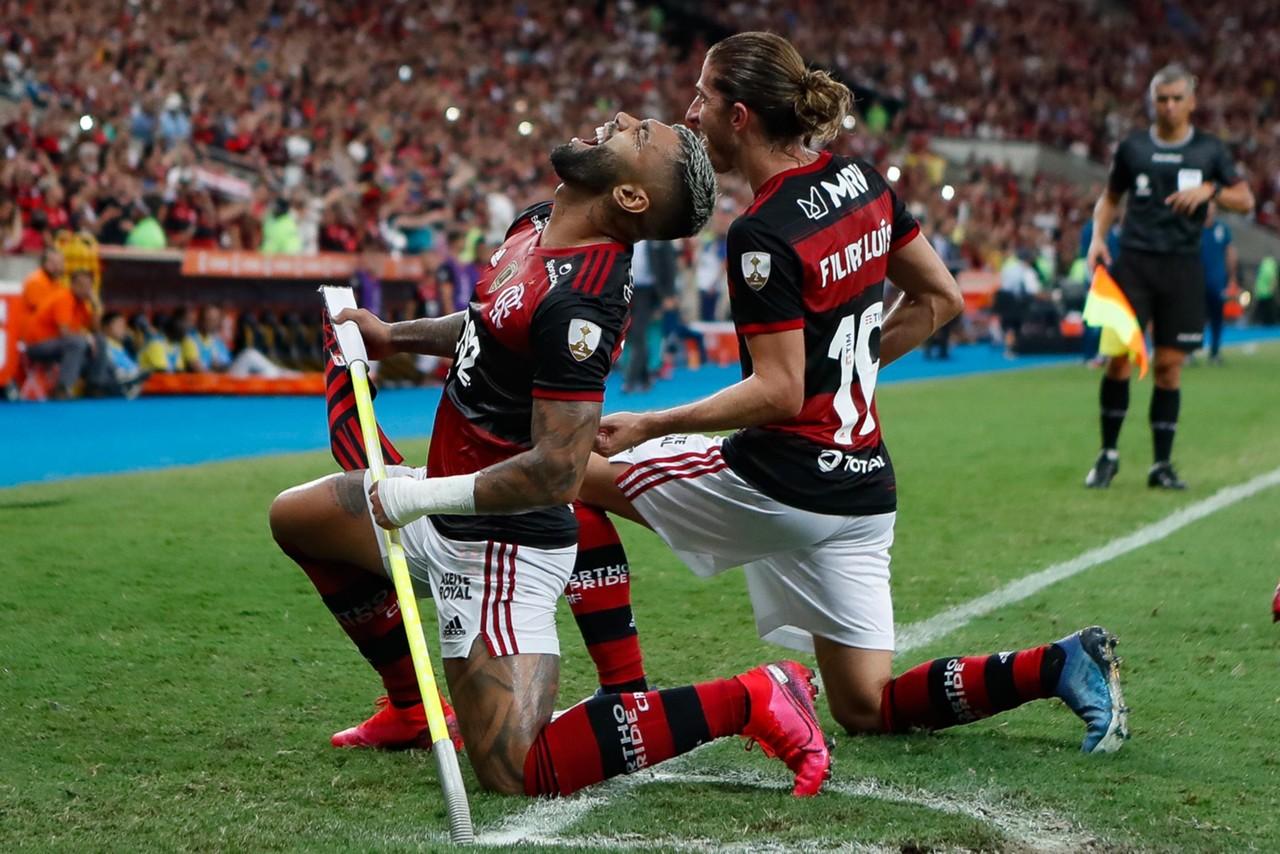 Flamengo - Libertadores - Gabigol e Filipe Luís