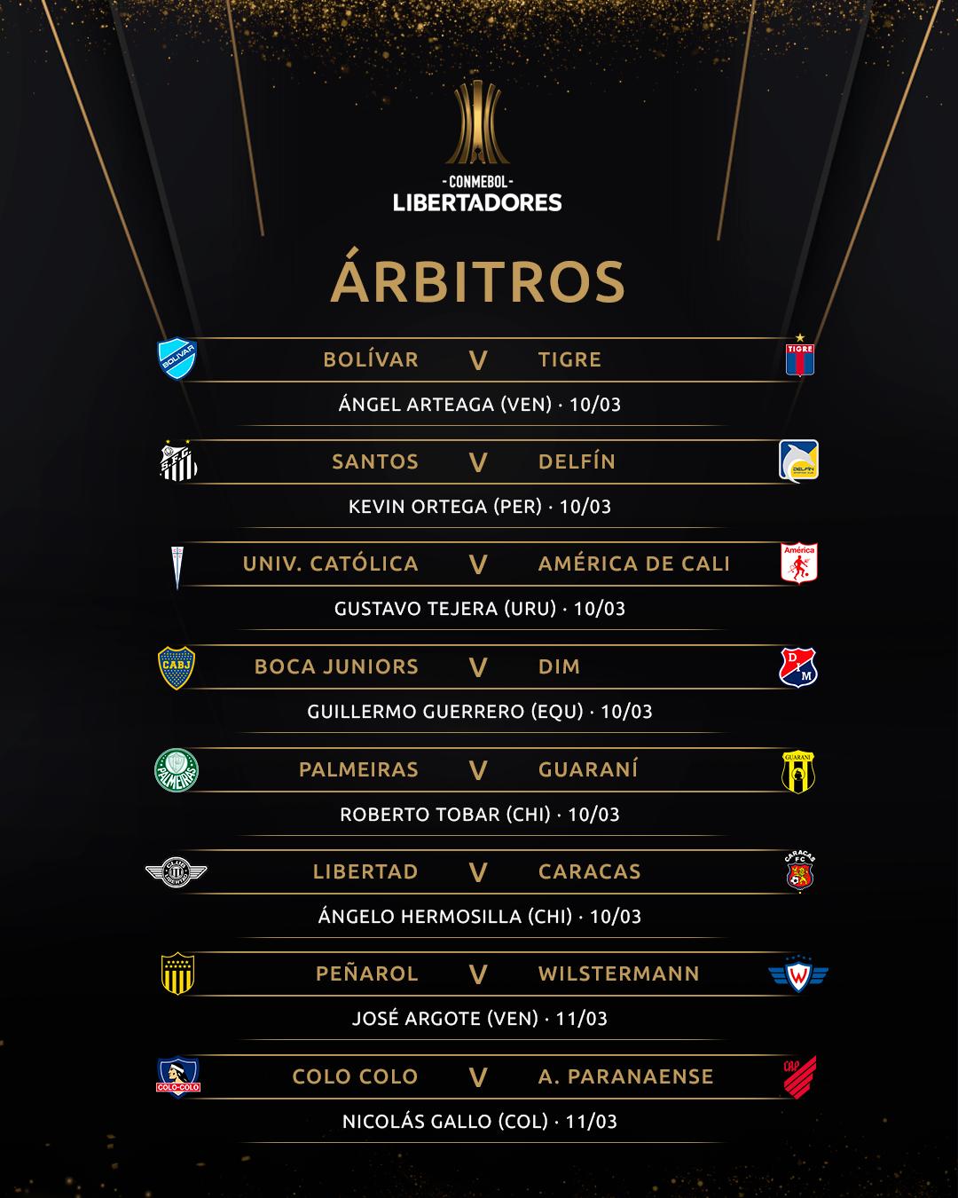 Árbitros - Libertadores
