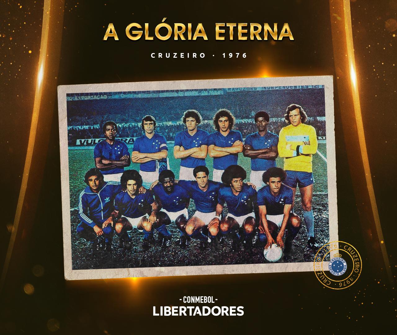 Arte Cruzeiro Libertadores 1976