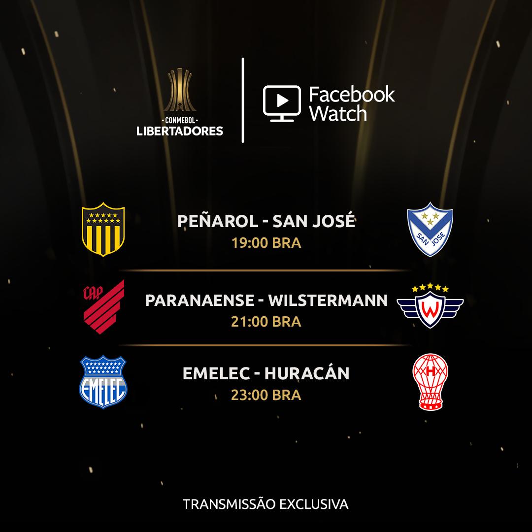 Programação do Facebook - Libertadores