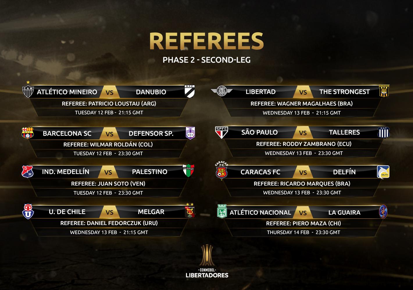 Referees 2nd leg, Phase 2