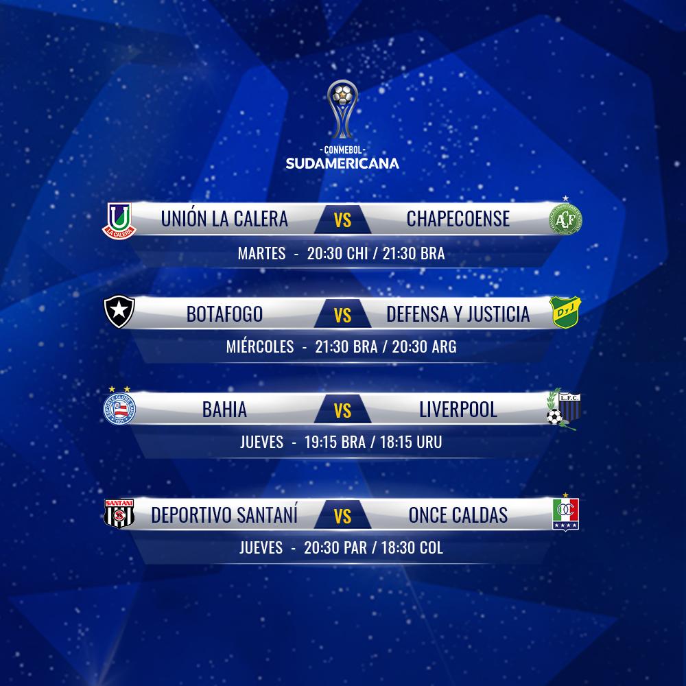 Fixture Copa Sudamericana 2019 semana 1