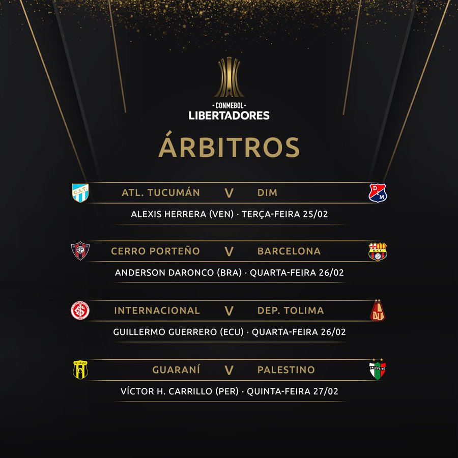 Árbitros Libertadores - Fase 3