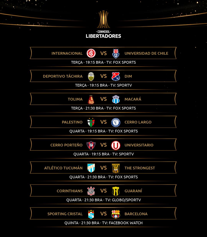 Semana de volta Fase 2 - Libertadores