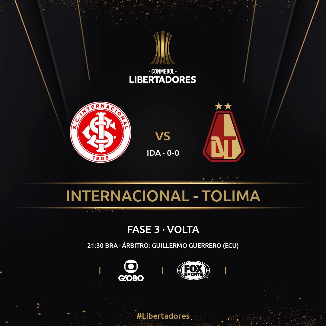 Internacional x Tolima - Fase 3 Libertadores