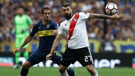 AFP Boca Juniors River Plate Copa CONMEBOL Libertadores 11112018 Carlos Izquierdoz Lucas Pratto