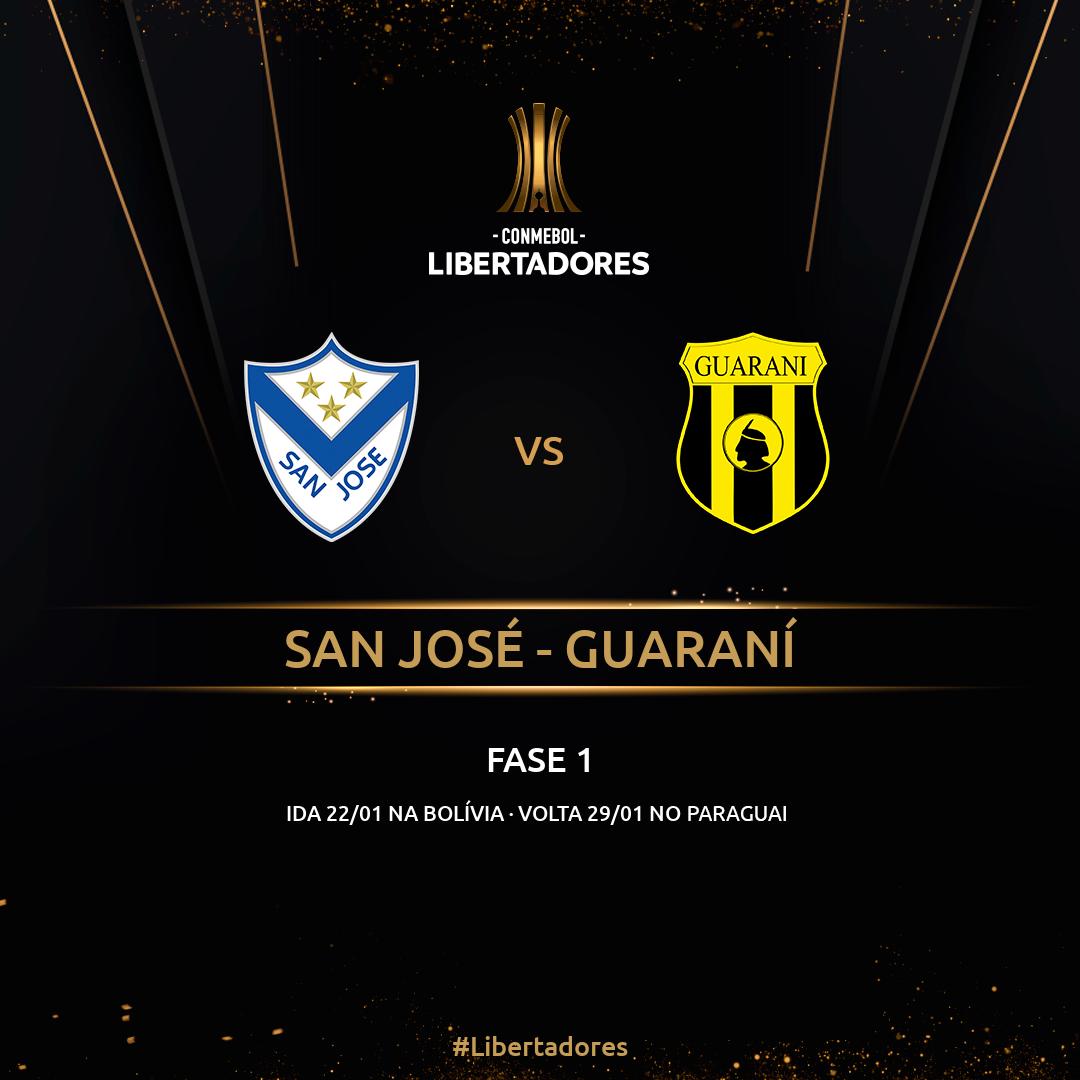 San José x Guaraní - Libertadores Fase 1