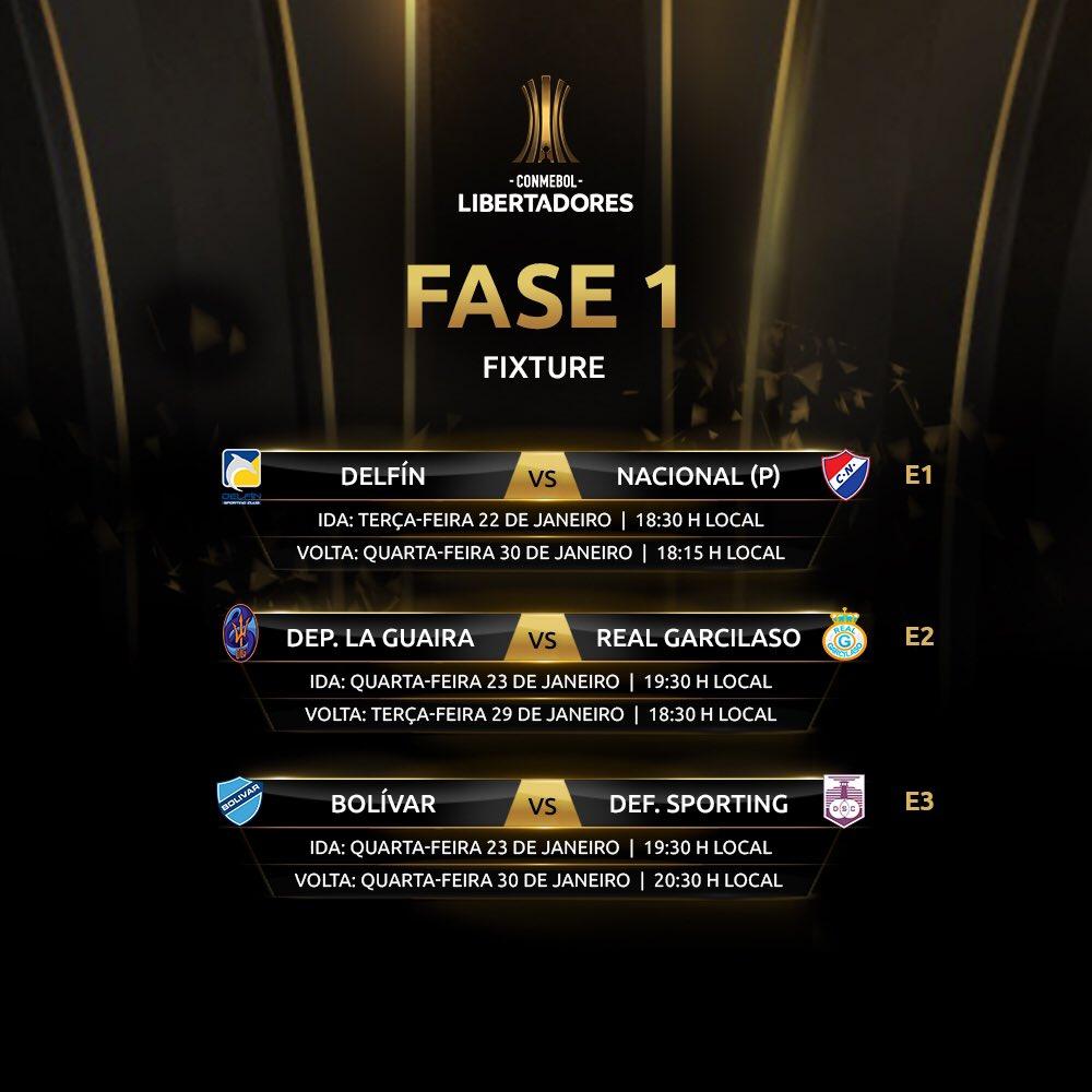 Fase 1 - Libertadores