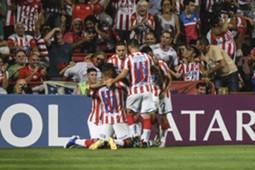 Comemoração do gol do Unión contra o Atlético-MG
