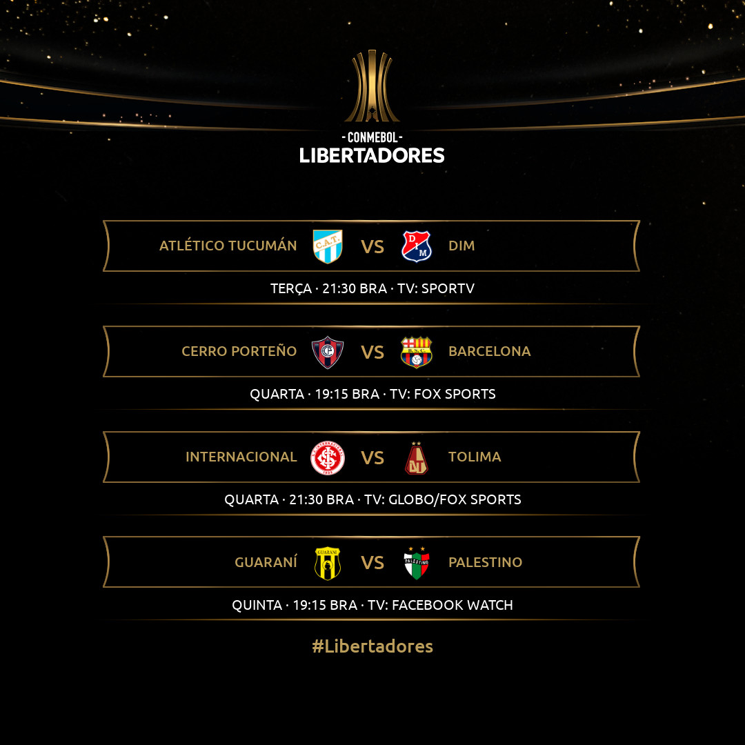 Tabela Fase 3 Libertadores - volta
