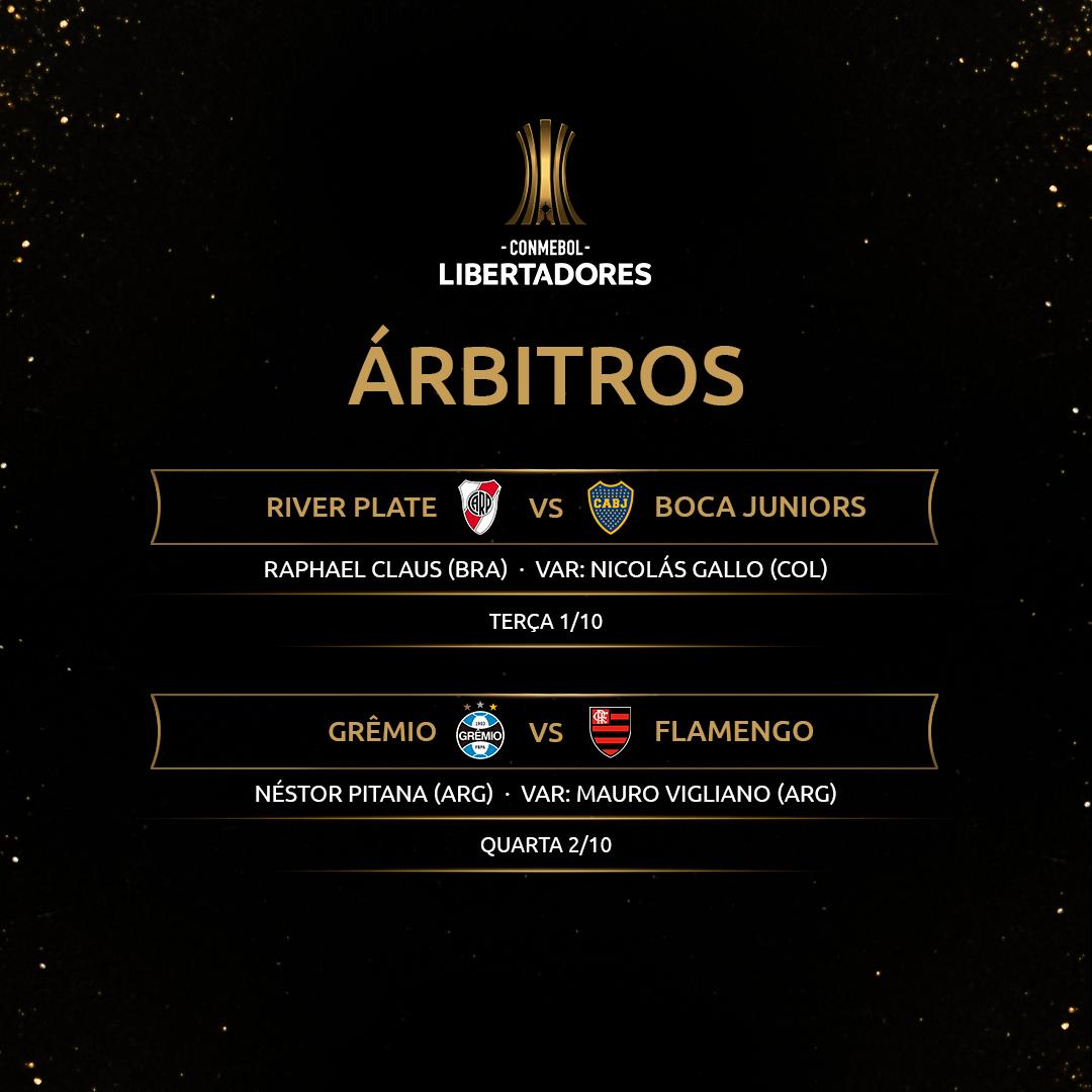 Árbitros semifinais Libertadores