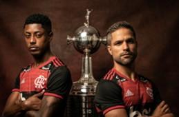 Bruno Henrique e Diego - Flamengo - Libertadores - especial web