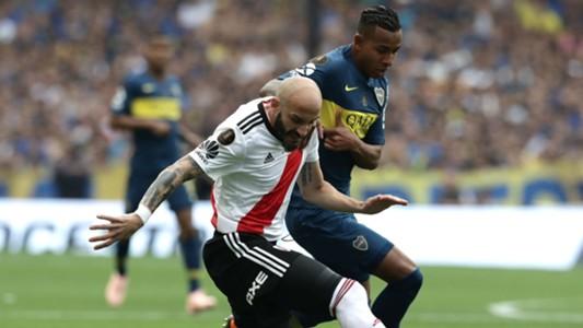 AFP Boca Juniors River Plate Copa CONMEBOL Libertadores 11112018 Javier Pinola Sebastian Villa