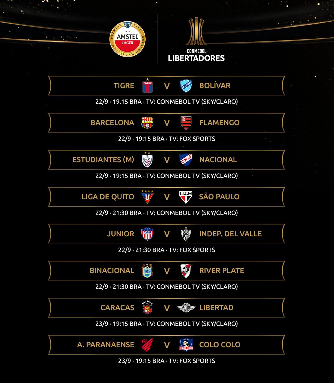 Tabela 1 - Libertadores