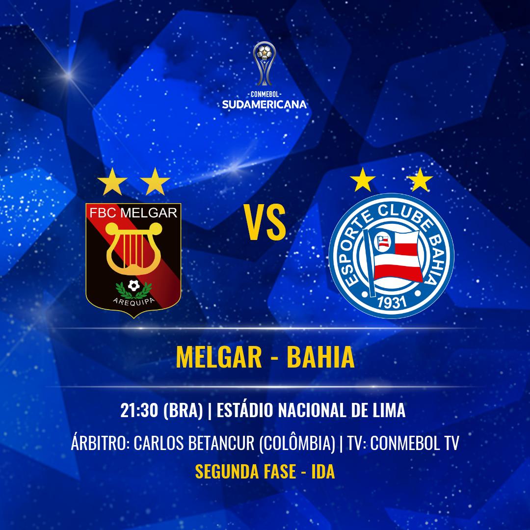 Melgar x Bahia: arbitragem, horário, local, histórico e onde ver na TV o  jogo de ida pela Segunda Fase da Sul-Americana   Copa Sudamericana