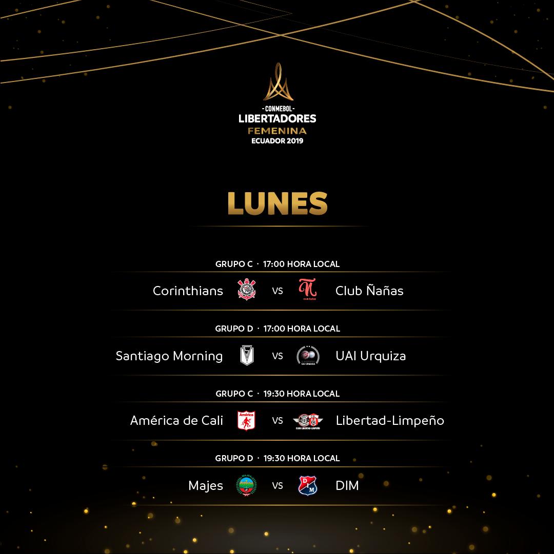Fixture lunes Copa Libertadores Femenina