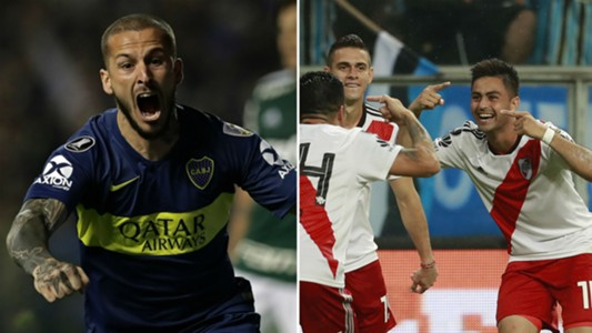 Bendetto Pity Martínez River-Boca AFP