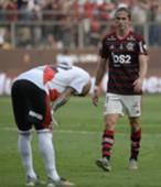 Filipe Luis na final contra o River Plate, vencida pelo Flamengo