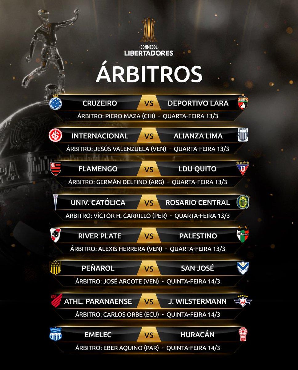 Árbitros - Libertadores 2