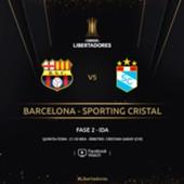Barcelona x Sporting Cristal - Libertadores