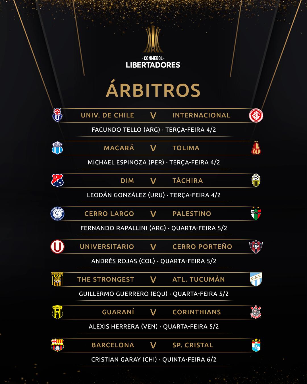 Arbitragem Fase 2 Ida Libertadores 2020