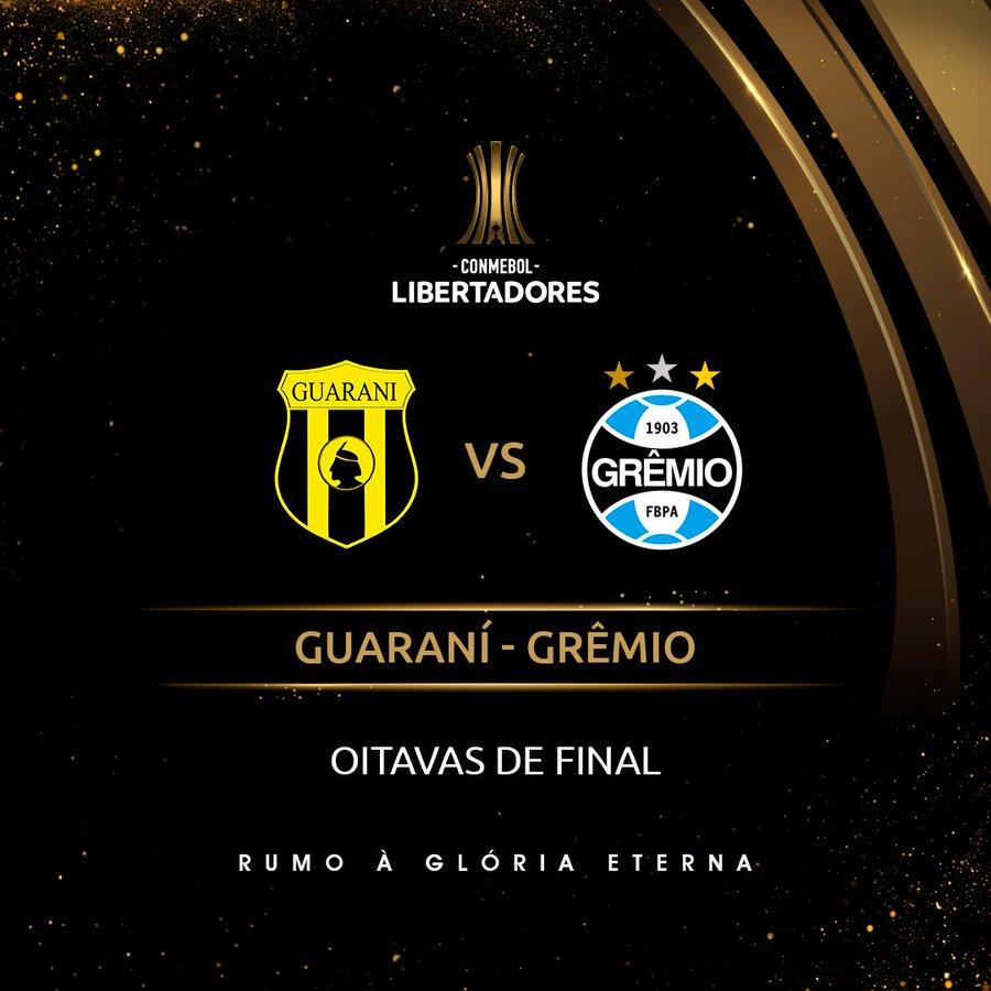 Arte: Guarani x Grêmio - Libertadores
