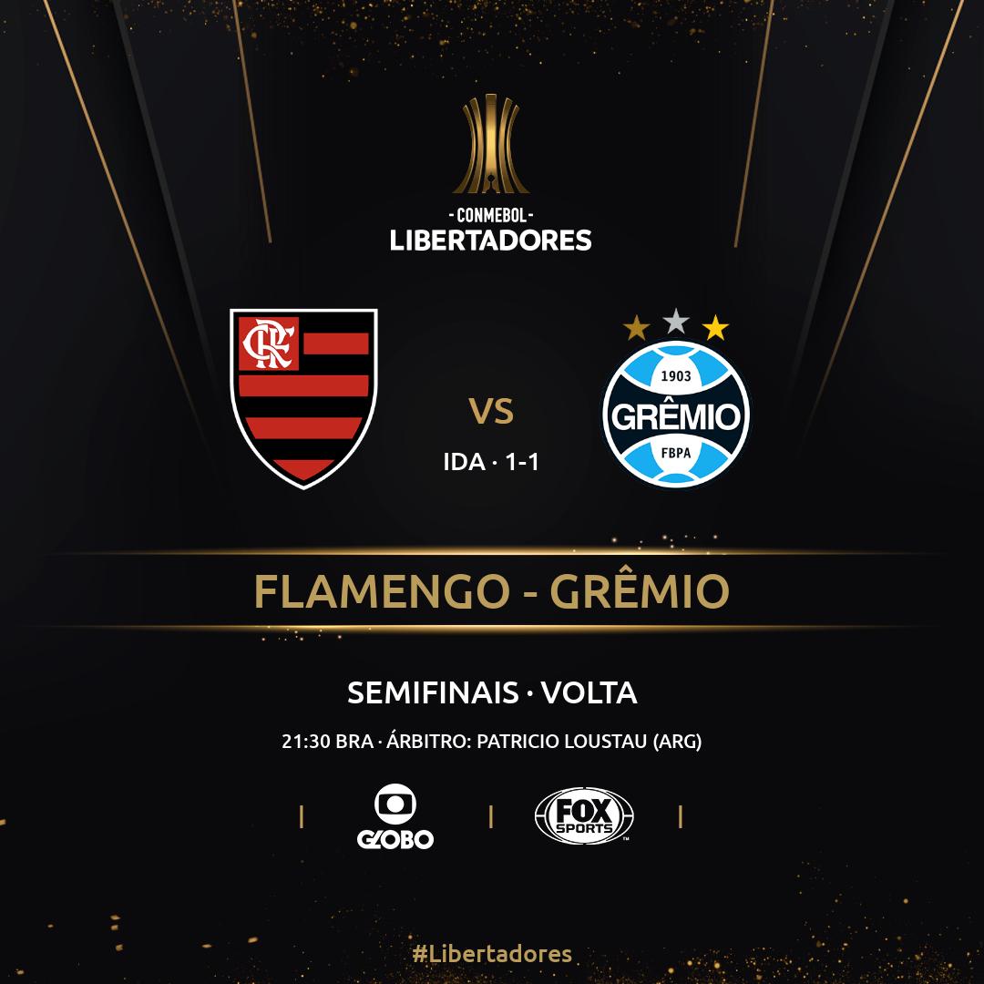 Flamengo Gremio semifinais volta