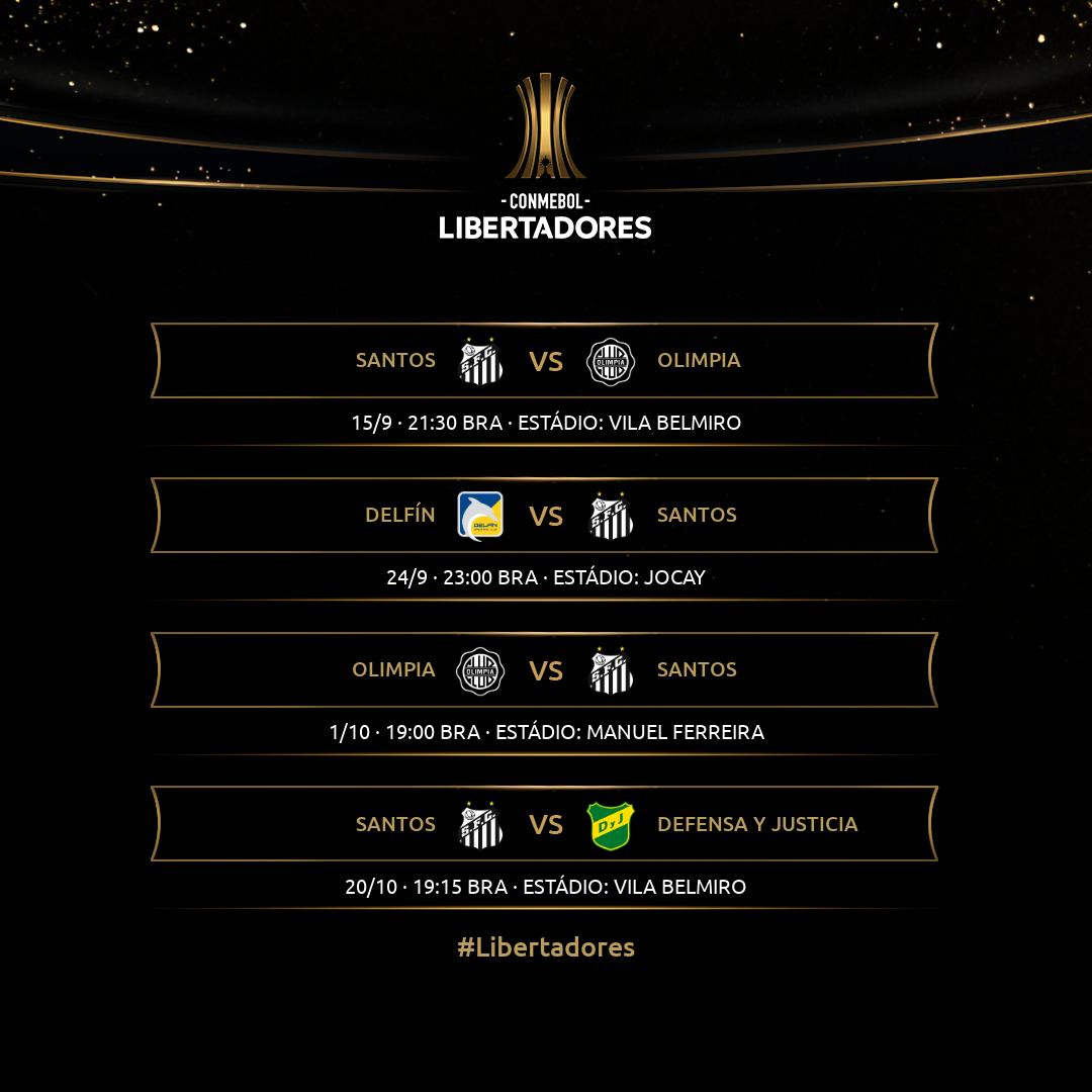 Tabela Santos - Sem TV - Libertadores
