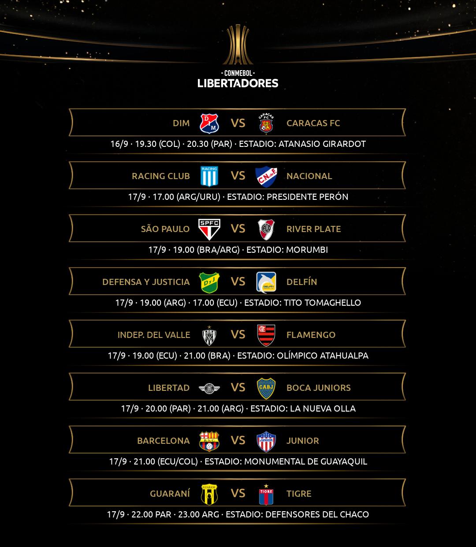 Fixture fecha 3 Libertadores