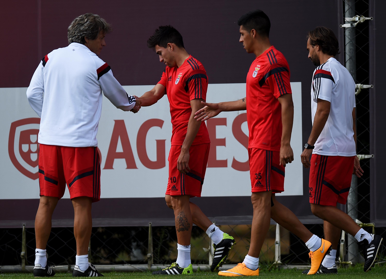 Benfica - Enzo Pérez e Jorge Jesus