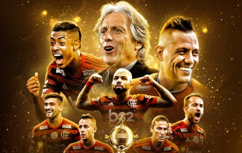 Arte especial Flamengo campeão Libertadores
