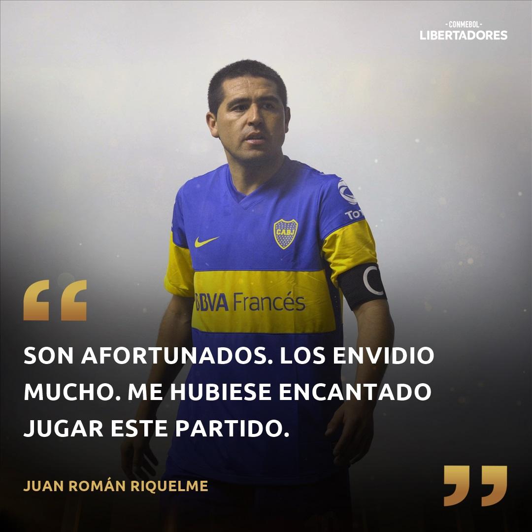 Juan Roman Riquelme Boca Juniors Copa CONMEBOL Libertadores frase