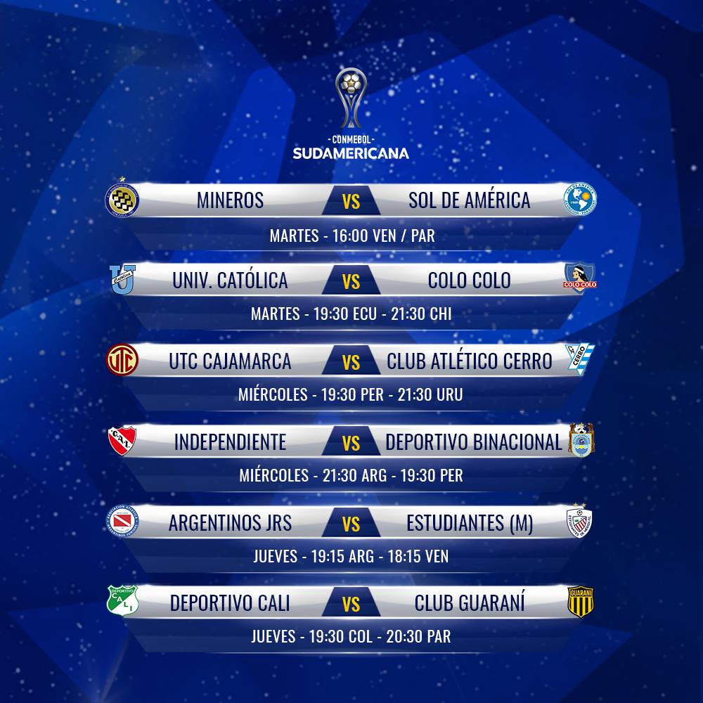 Agenda semana CONMEBOL Sudamericana