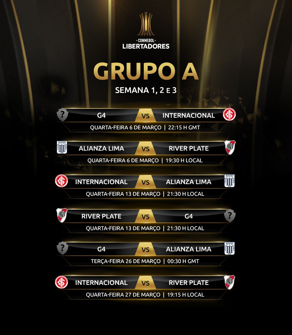 Jogos Grupo A - Libertadores (1)