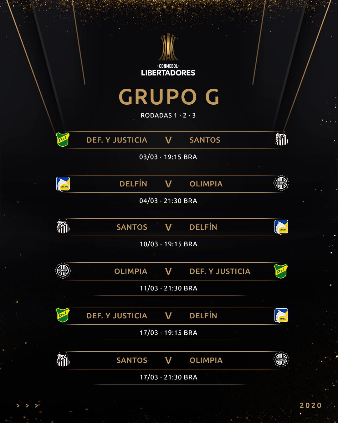 Grupo G - tabela 1 - Libertadores