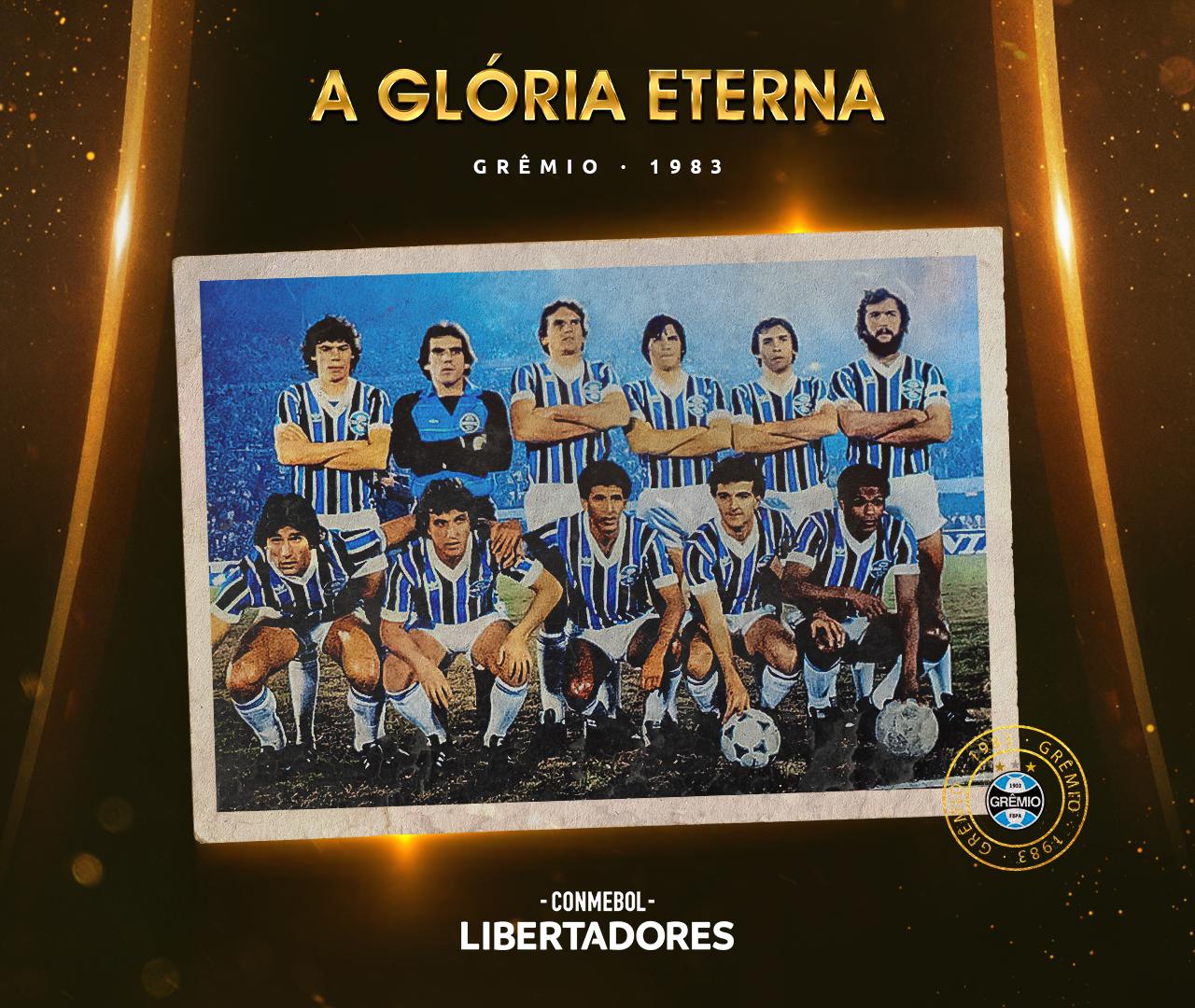 Arte Grêmio Libertadores 1983