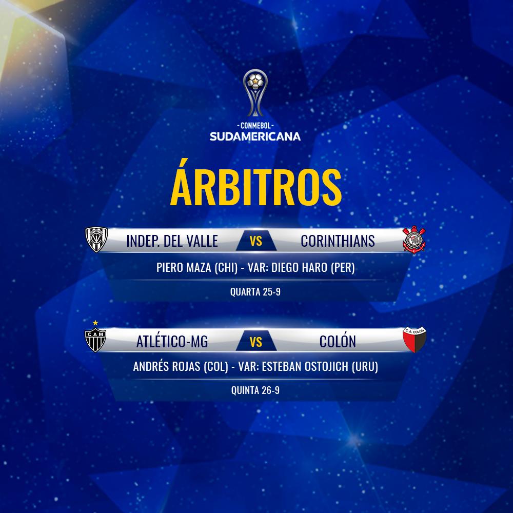 Árbitros semifinais de volta da Sul-Americana