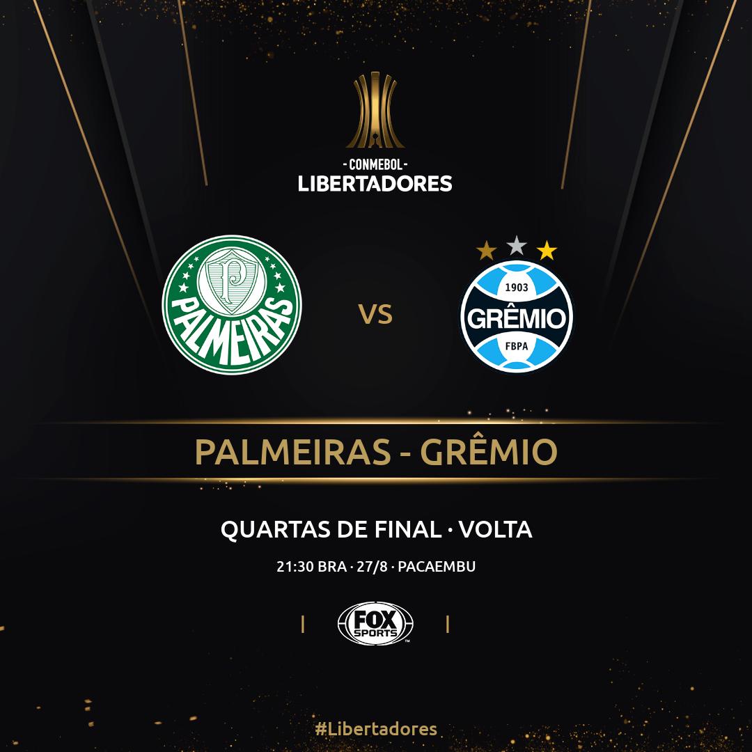 Palmeiras x Grêmio - placa