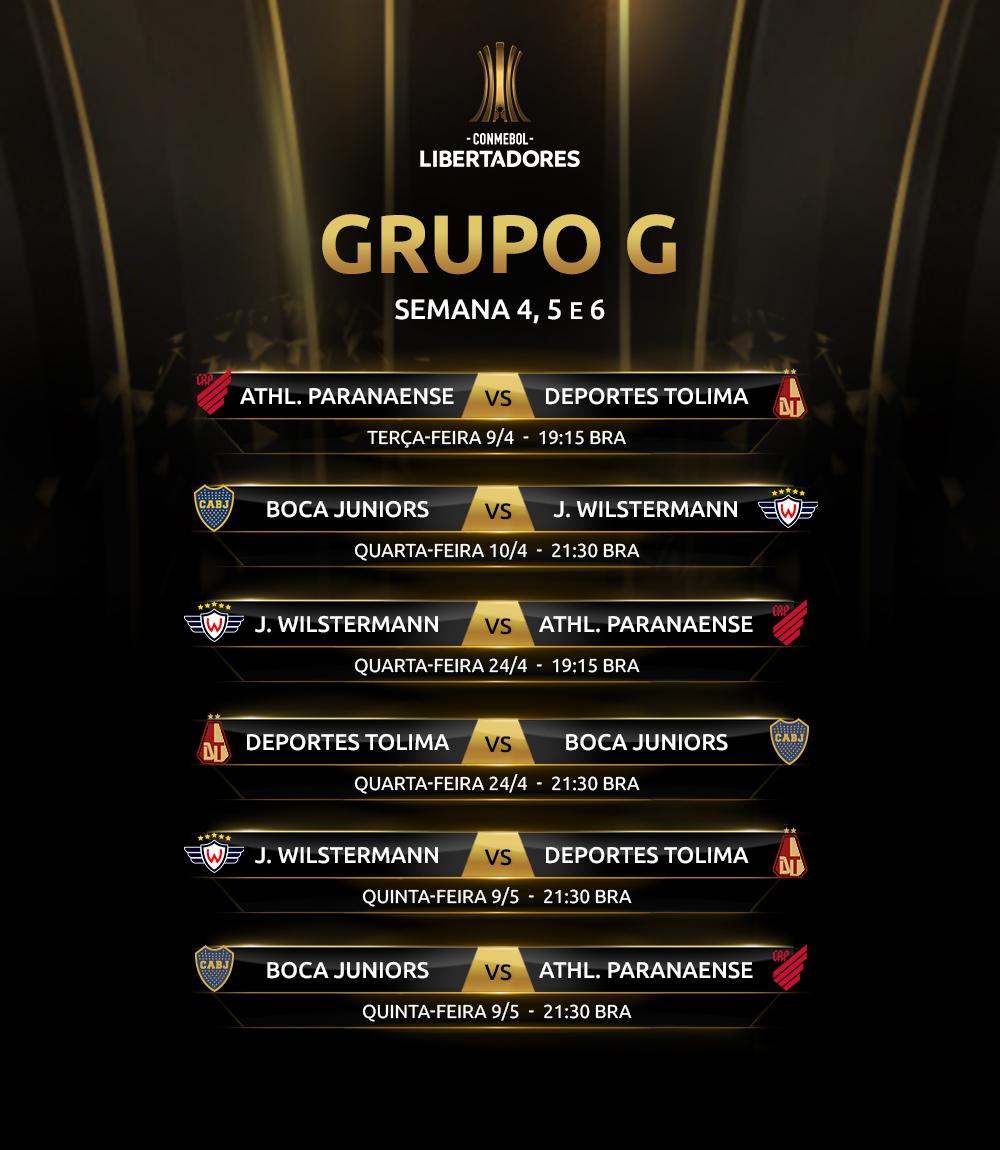 Grupo G 2 Rodada Libertadores 2019