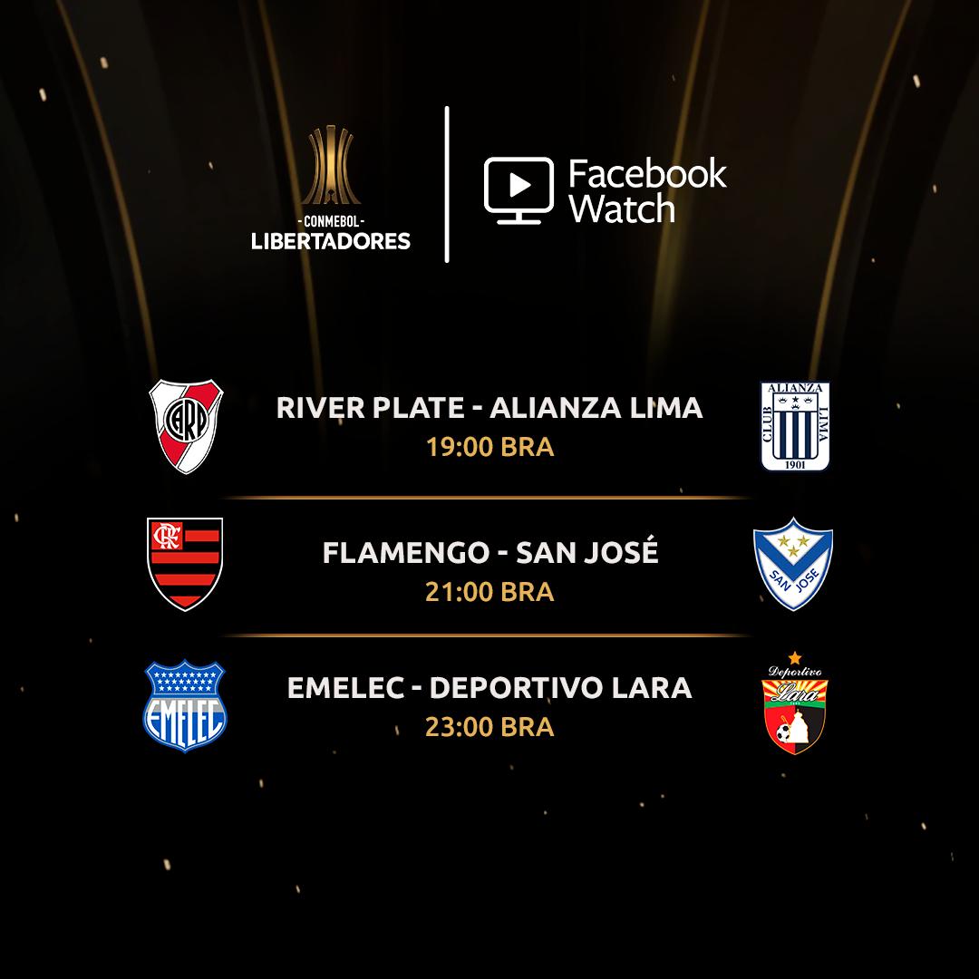 Jogos de quinta - Facebook Libertadores