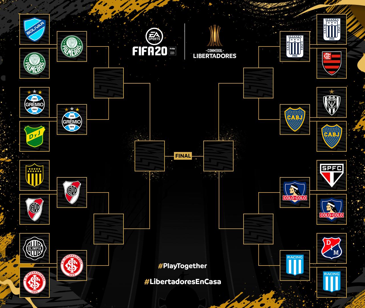 Brackets Libertadores en Casa