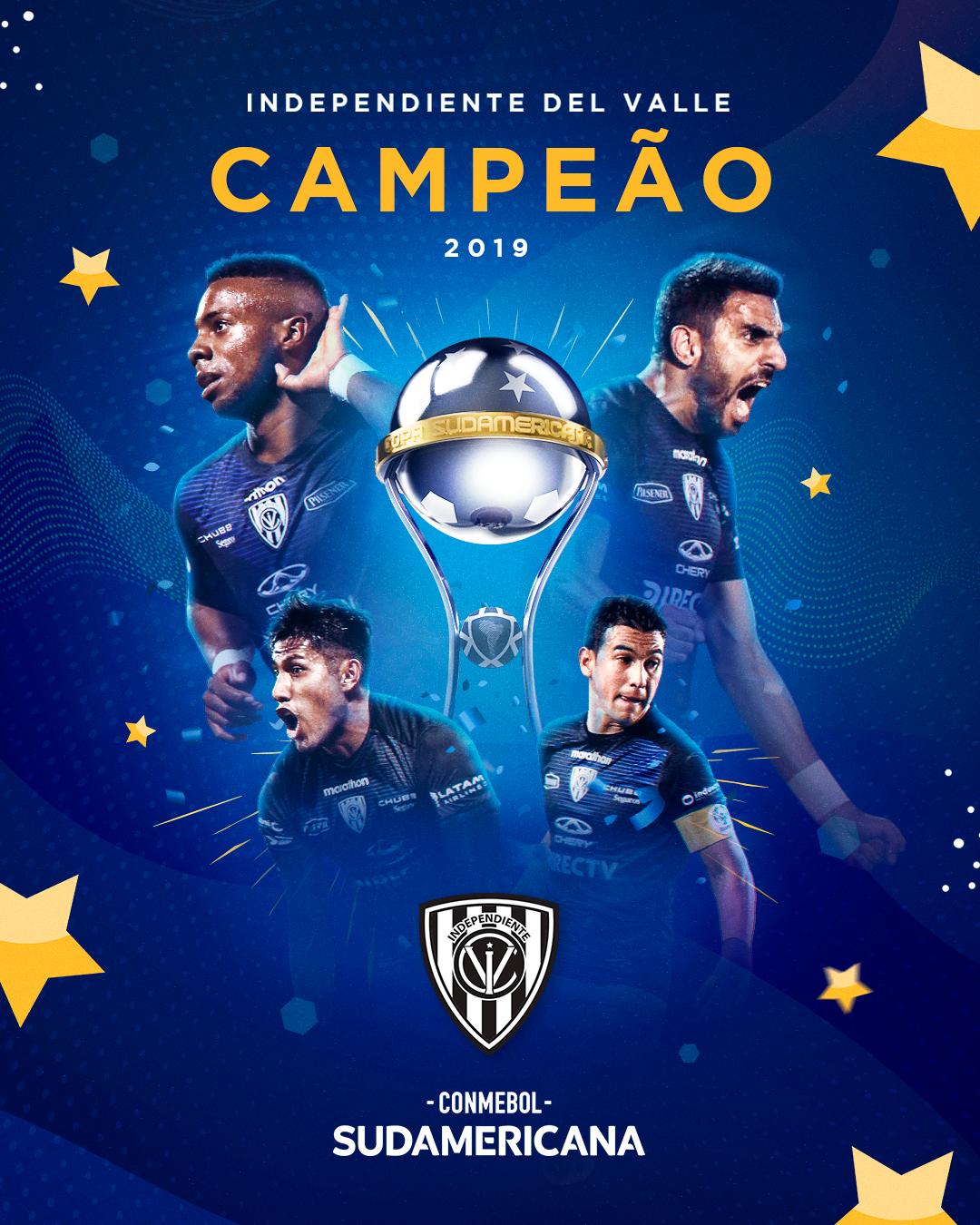 Poster Del Valle campeão Sul-Americana