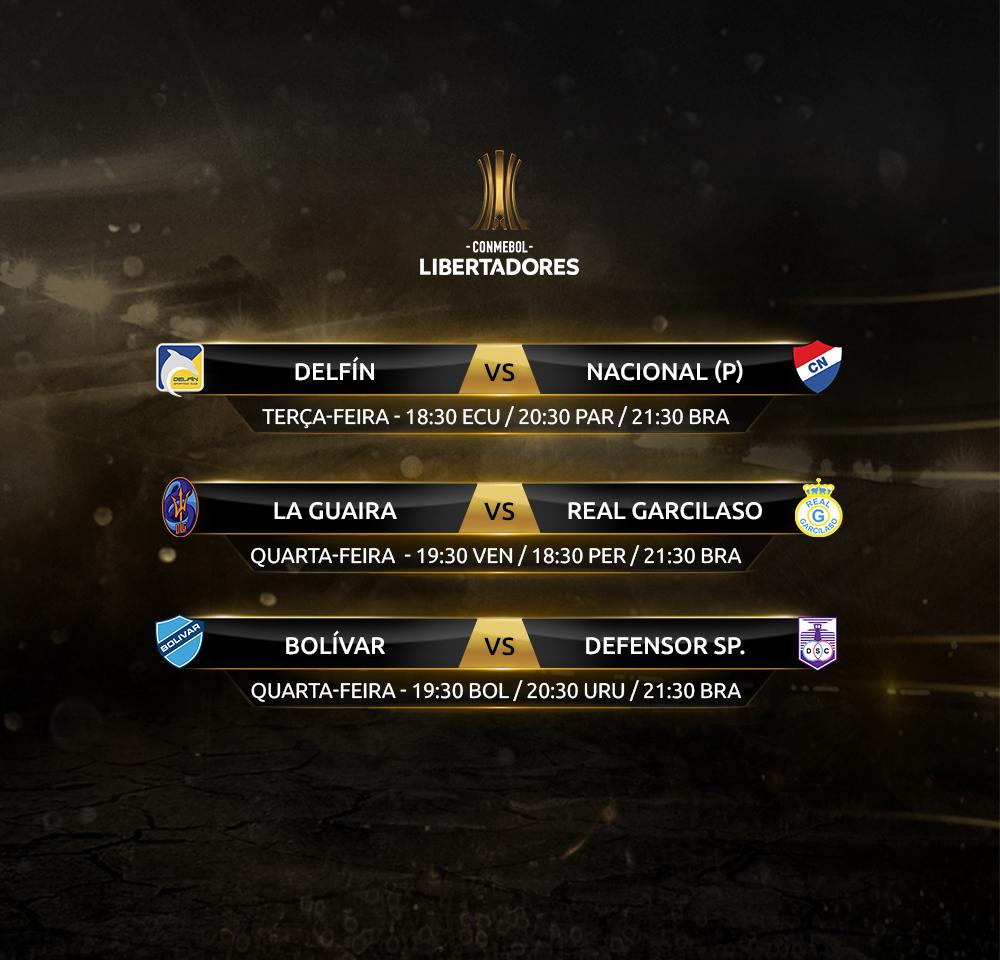 Jogos de ida - primeira fase Libertadores